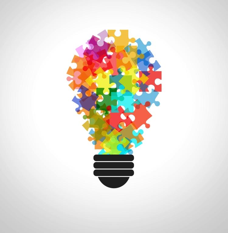 Puzzle na Lâmpada - Conceito de Resolução de Problemas